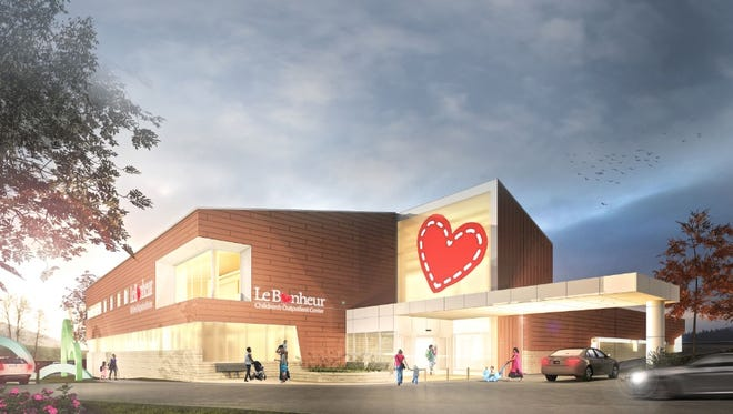 Artist rendering of Le Bonheur Children's Hospital, which will begin construction on its new ambulatory clinic on Vann Drive in late summer or early fall.