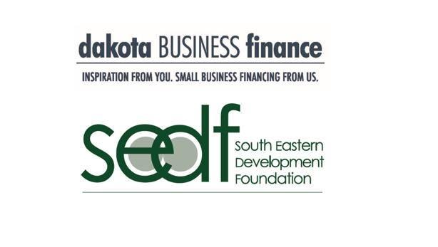 Logos for Dakota Business Finance and the South Eastern Development Foundation.