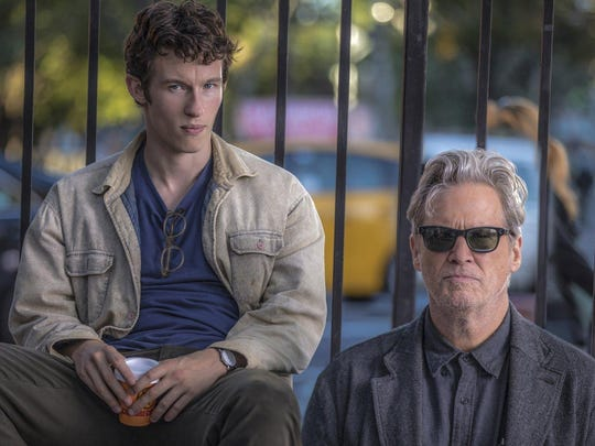 "Callum Turner and Jeff Bridges in ""The Only Living Boy in New York."""