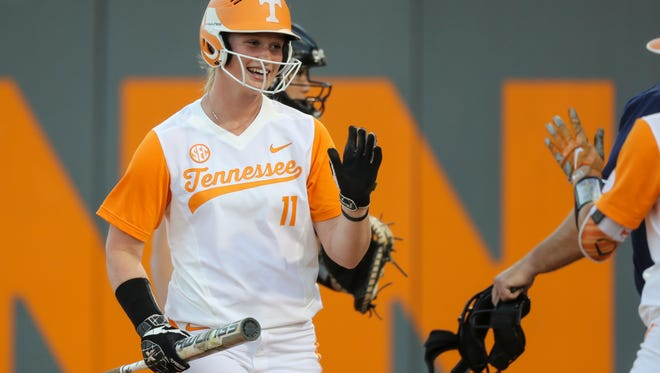 Haley Bearden had a career-high three RBIs in Tennessee's 8-4 win over Texas A&M on Saturday in College Station, Texas