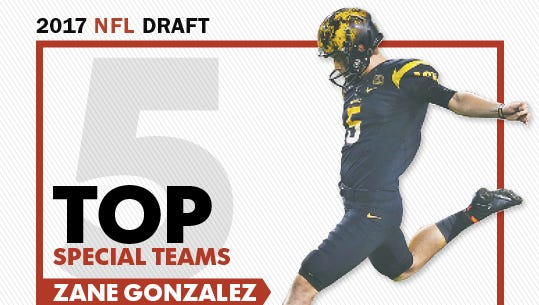 Former ASU kicker Zane Gonzalez tops our top 5 special-team prospects in the 2017 NFL draft.