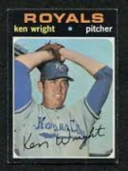 Ken Wright baseball card.