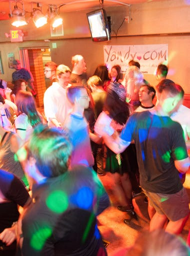The dance floor is packed all night during the Tongue Tied First Anniversary Party at Apollo's lounge in Phoenix on Saturday, May 3, 2014.