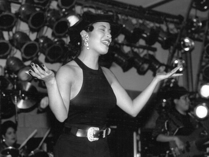 Selena Quintanilla performs in Abilene in the early