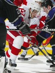 Pavel Datsyuk against the LA Kings at Joe Louis Arena,