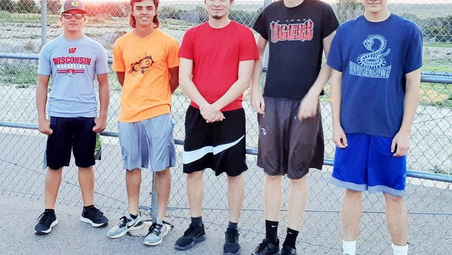 The 2020 La Junta High School cross country team. From left, Paul Hanson, Walker Balicki, Santanel Orosco, Karl Ludwig and Drew Huffman.