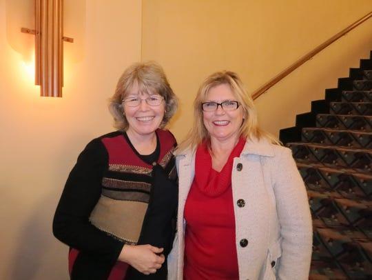 Lynda LeCoe (left) and Mary Nowak, both of Redding,