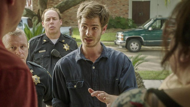 "Andrew Garfield stars in ""99 Homes."""