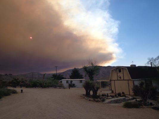 Day 1 lake fire