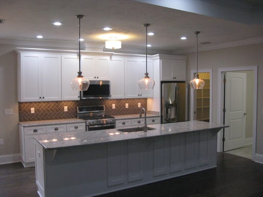 Kitchen in home on Sumter Hill Lane built by Adams Quality Homes.