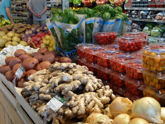 Organic produce at Dean's Natural Food Market in Chester.