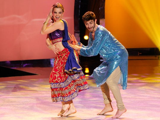 """Valerie Rockey, left, and Ricky Ubeda execute a Bollywood routine on the July 23 episode of """"So You Think You Can Dance."""""""