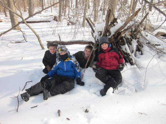 Children enjoy participating in The Nature Conservancy's Winter Wilderness Survival seminar at the Kay Environmental Center in Chester last January.