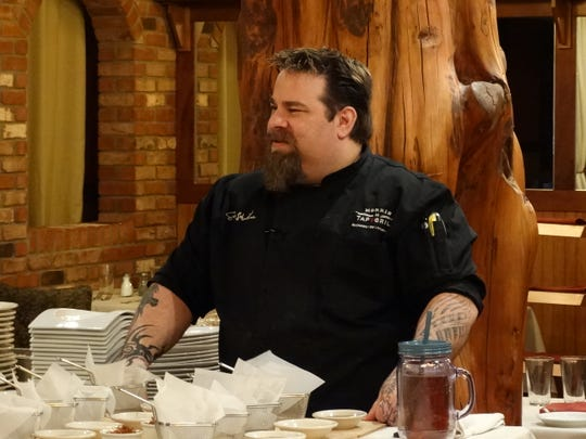 Morris Tap & Grill Chef/Owner Eric LeVine previews new menu items on April 9.