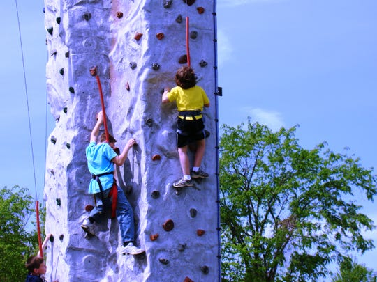 Rock climbing is one of the programs offered through 4-H in St. Clair County.