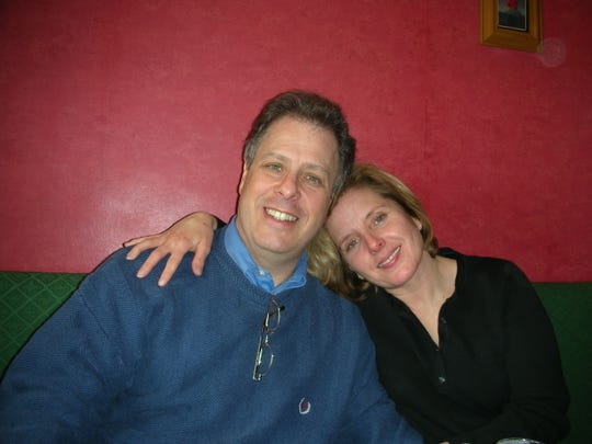 Frank and Linda Interlichia in 2006 in a pub in Dover, England.