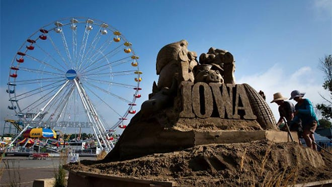 A scene from the Iowa State Fair is shown Aug. 13, 2019 in Des Moines.