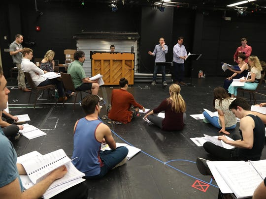 Leading the cast in rehearsal of the first 15 pages