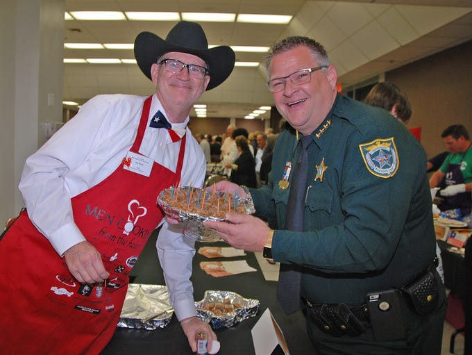Chef Jay Rudy poses with Brevard County Sheriff Wayne