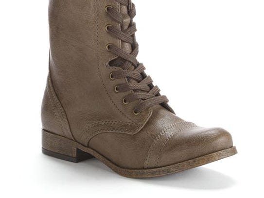SO® Midcalf Combat Boots feature lace-up front and