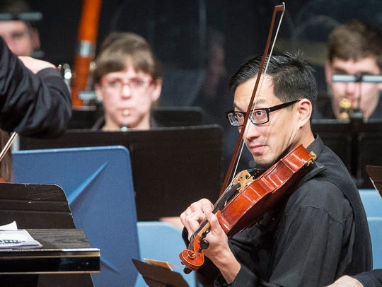 Tim Tan plays with the Muncie Symphony Orchestra Sunday