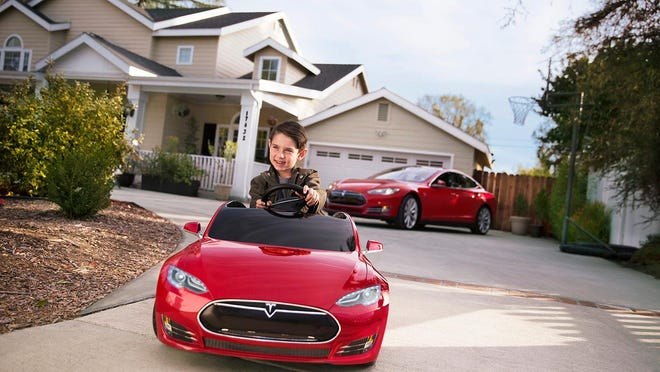 A collaboration between Radio Flyer and Elon Musk's auto company, the Tesla Model S for Kids (sticker price: $499) arrives tricked out with a few bite-size bells and peewee whistles