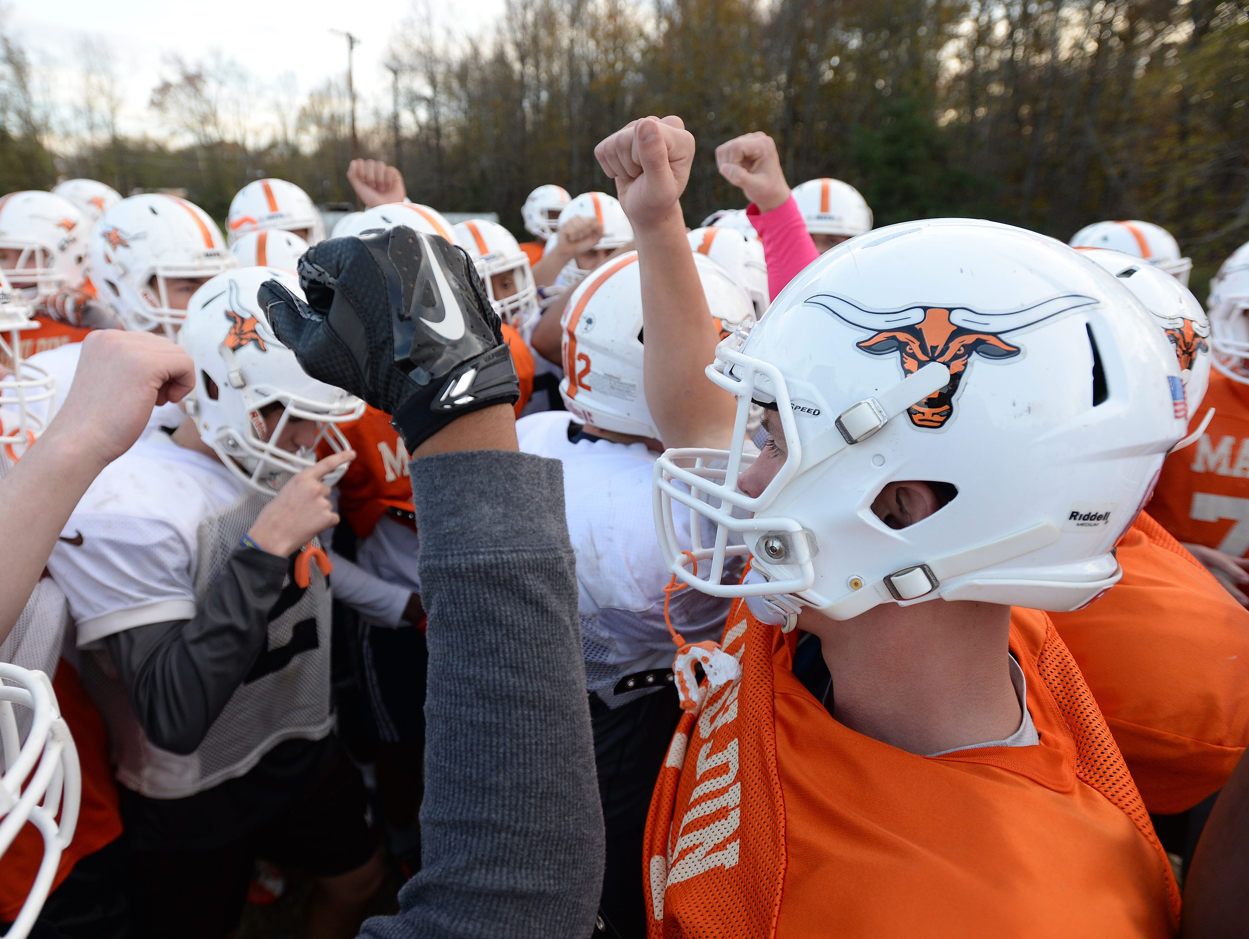 The Mauldin Mavericks practice Monday, November 16, 2015. Mauldin will play Hillcrest in the 1st round of the AAAA playoffs Friday at Hillcrest.