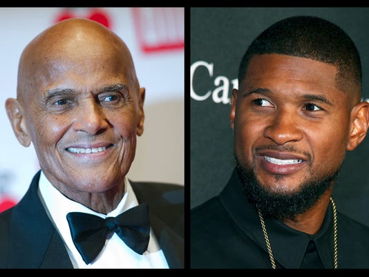Harry Belafonte and Usher