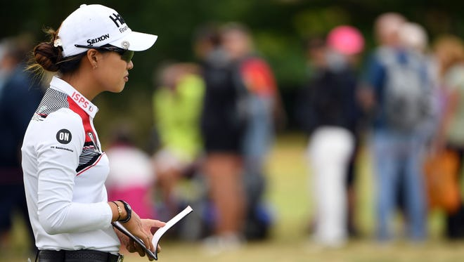 Australia's Minjee Lee putts on the 15th green on the first day of the 2018 Women's British Open.