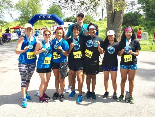 Poughkeepsie High School's Marathon Project runners