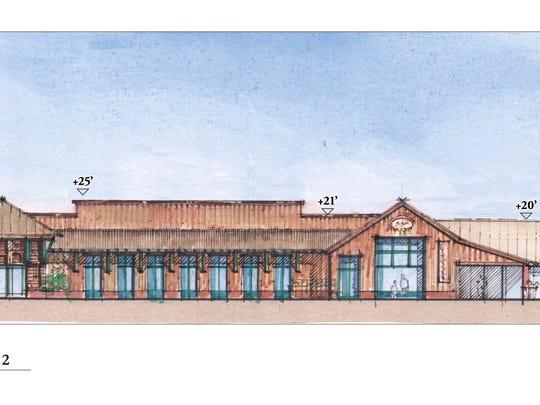Artist's rendering of proposed Corral de Tierra Shopping