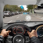 Mini's augmented vision goggles, designed by Osterhout Design Group, are aimed at helping Mini drivers stay focused on the road while providing them with info updates not possible from normal instrument clusters.