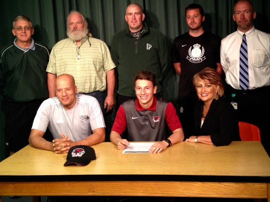 Pakside's Jarod Ramses signed his letter of intent on Wednesday, March 23 to play soccer at Saint Joseph's University.