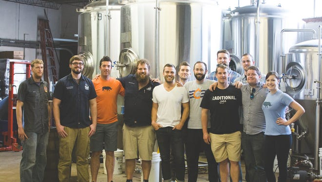 Nation partnered with Listermann Brewing Company to brew a signature beer, Carrie Ale, for the new bar.