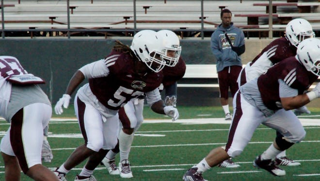 Caleb Tucker is one of four new starters up front for the Warhawk defense.