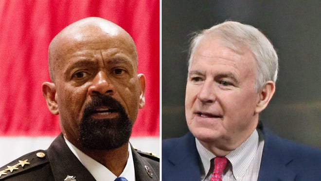 Milwaukee County Sheriff David A. Clarke Jr. and Milwaukee Mayor Tom Barrett