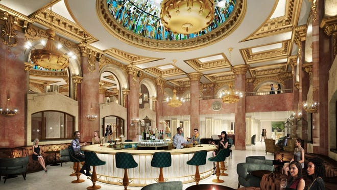 A rendering of the iconic dome bar, which is part of the renovation of the Hotel Paso Del Norte.