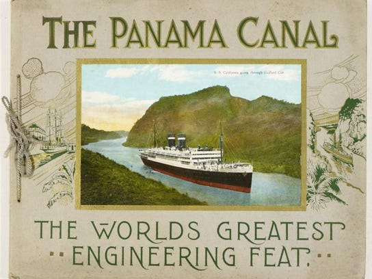 A Panama Canal advertising pamphlet circa 1914.