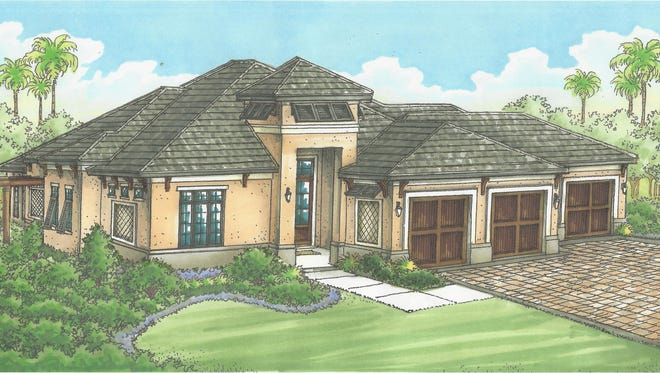 The Gallina by McGarvey Custom Homes is underway in LaCaille at Quail West.