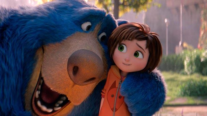 """June, voiced by Sofia Mali, right, and Boomer, voiced by Ken Hudson Campbell, in """"Wonder Park."""""""