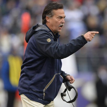 St. Louis Rams head coach Jeff Fisher is 24-34-1 with