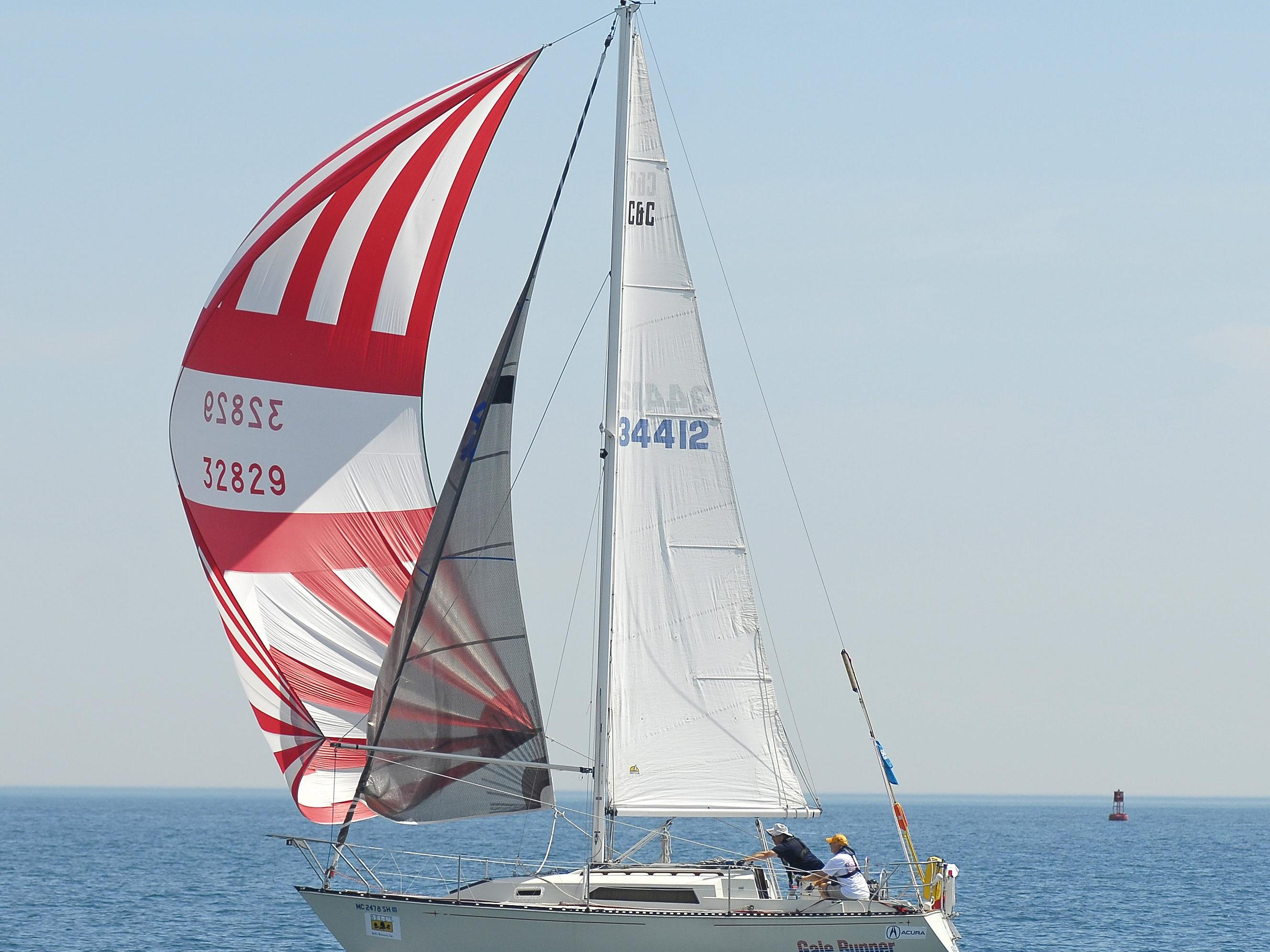 Gale Runner, of Great Lakes Sail Club, sets sail during last year's race