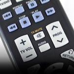 TV remote control close-up