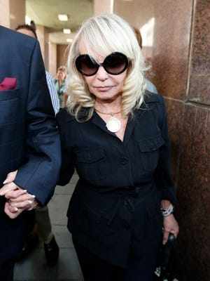 Shelly Sterling arrives at court for a trial against her husband, Donald, on July 8.