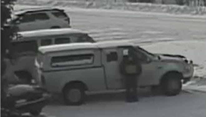 The suspect was captured on camera unlawfully entering vehicles and stealing items within.