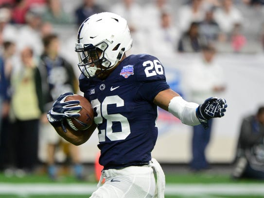 Penn State Nittany Lions running back Saquon Barkley