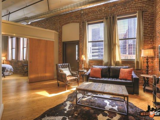 Vacation rental company Music City Loft offers a unique Nashville lodging option downtown.