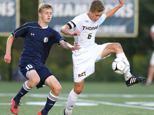 Webster Thomas' Kyle Sicke is a top midfielder.