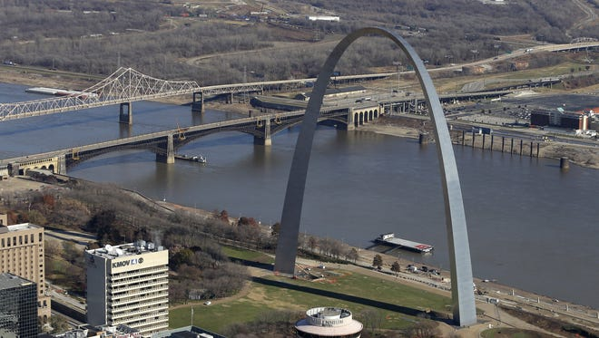 St. Louis Arch on the Mississippi River