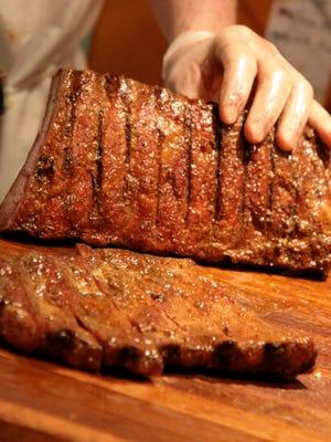 Dry-rub ribs from Luella's barbecue.